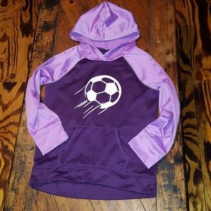 Justice girls SOCCER hoodie, size 12